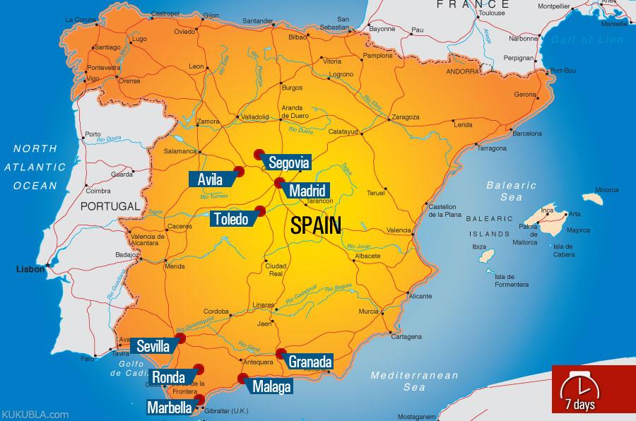 South Of Spain Map.Kukubla 2012 South Spain